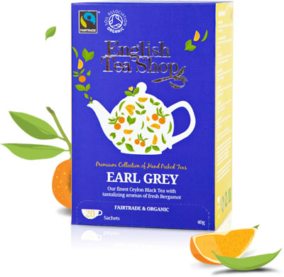 English Tea Shop Earl grey Mahe Tee Fairtrade 20pk x6