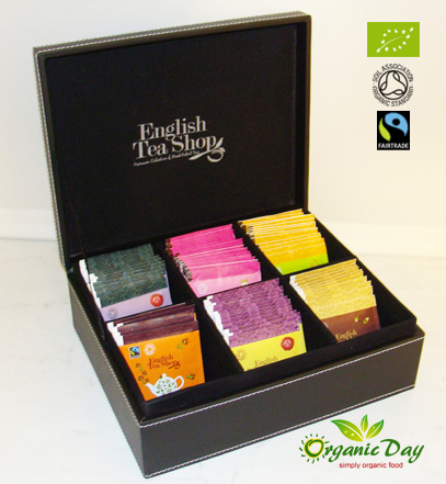 ETS Organic Tea Luxury Leather Gift box with 120 teas