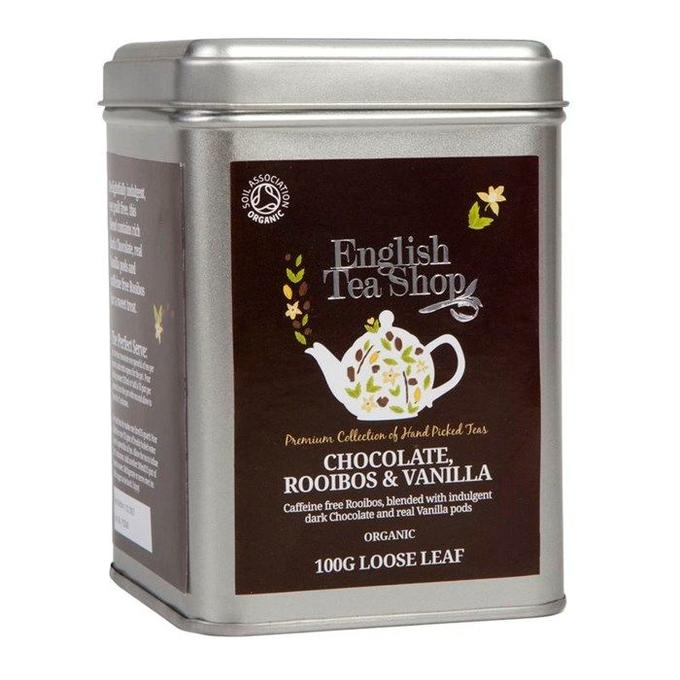 Organic Rooibos Chocolate Vanilla tea 100g tin