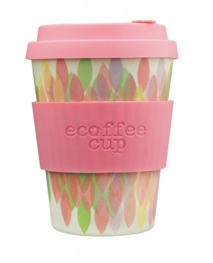 Ecoffee Cup tops 355ml Sakura Pink roosa