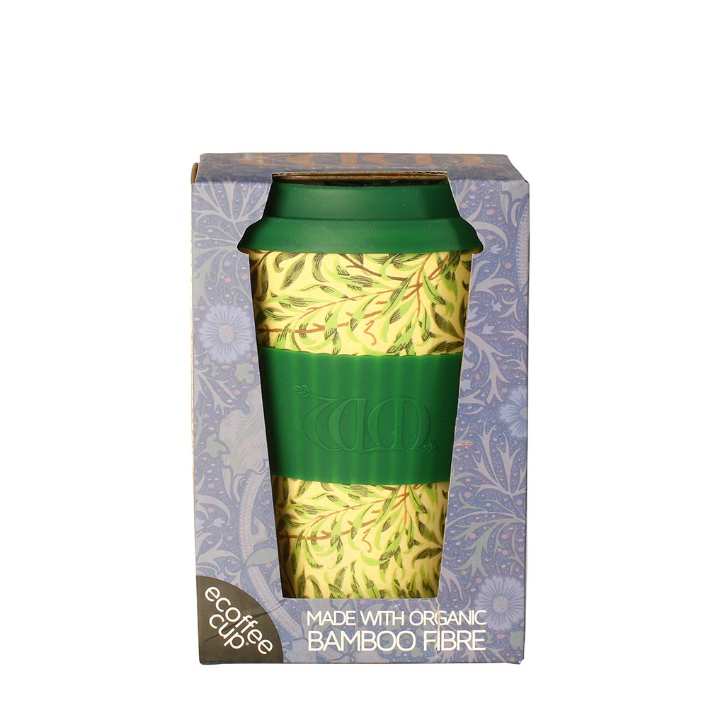 Ecoffee Cup reisikruus 400ml William Morris Willow rohelised oksad