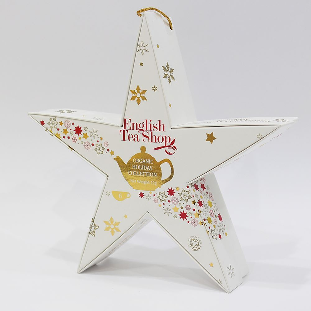 Mahe Jõulutee Gift pack 6pc Star Red Gold