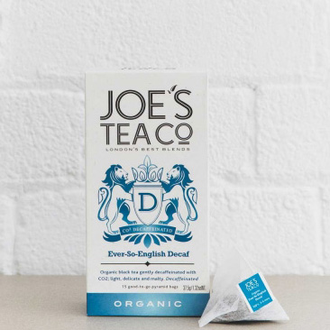 Joes Tea Company Organic Ever-So-English Decafinated 2.5g x15