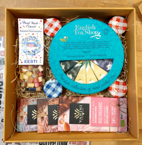 Giftbox Tea Chocolate Jams Candy Rock