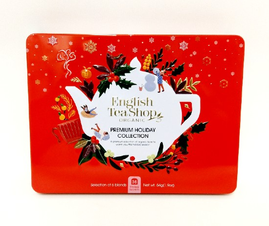 Organic Tea Premium Holiday Collection Red Gift Tin 36
