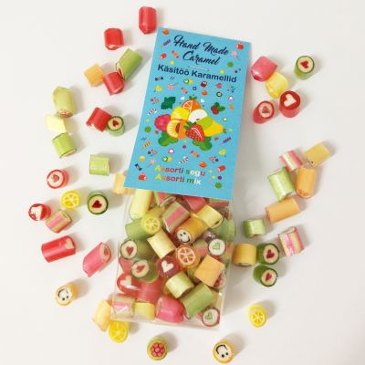 Handmade caramel rock candy Assorti Mix 90g