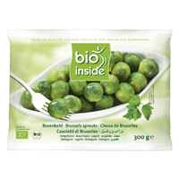 Organic Brussel sprouts IQF 300g frozen