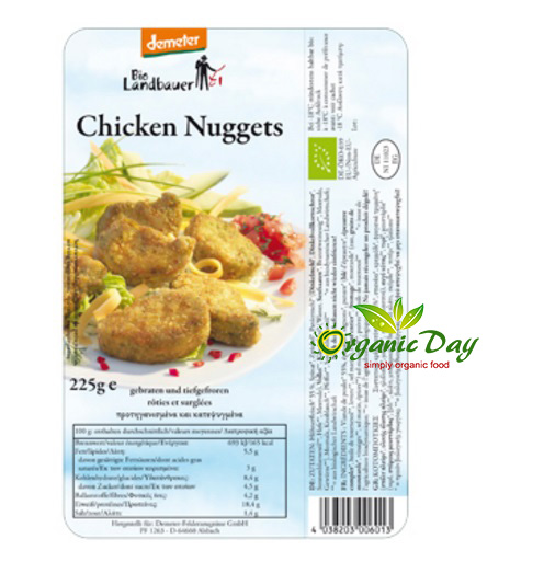 Organic Country Farm Frozen - juicy chicken nuggets 225g