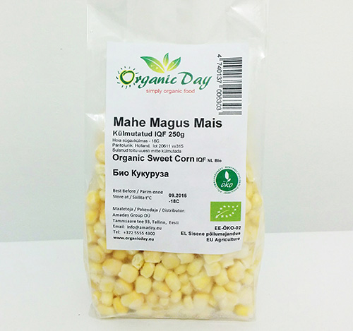 Organic Sweet Corn frozen 250g
