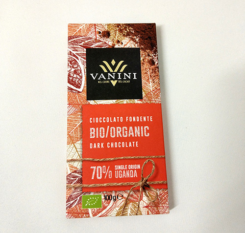Organic Vanini Chocolate Bar Dark 70% Uganda 100g