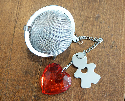 Tea Strainer with heart
