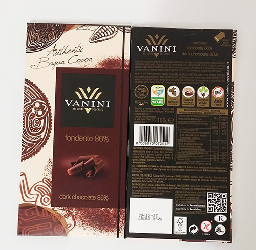 Dark chocolate bars cocoa 86%-100 g