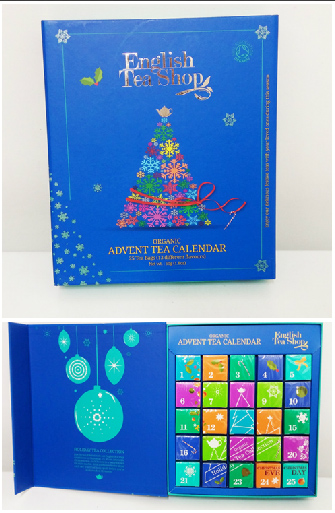 Organic Teas Blue Book CHRISTMAS ADVENT CALENDAR, 25, 50g