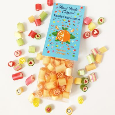 Handmade caramel rock candy Orange 90g