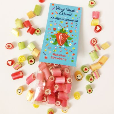 Handmade caramel rock candy Strawberry 90g