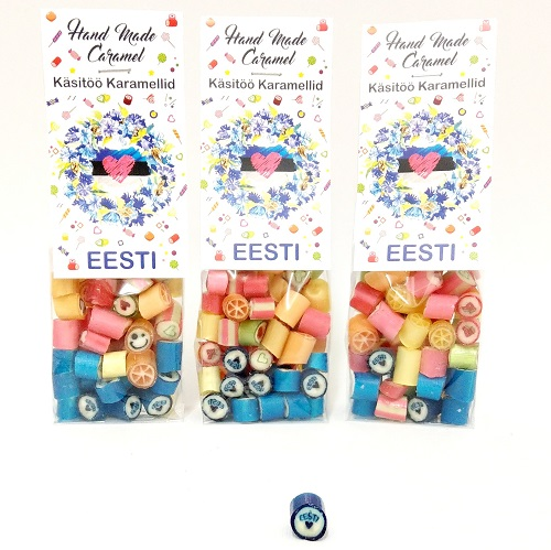 Handmade caramel rock candy Assorti Eesti 90g x3pc