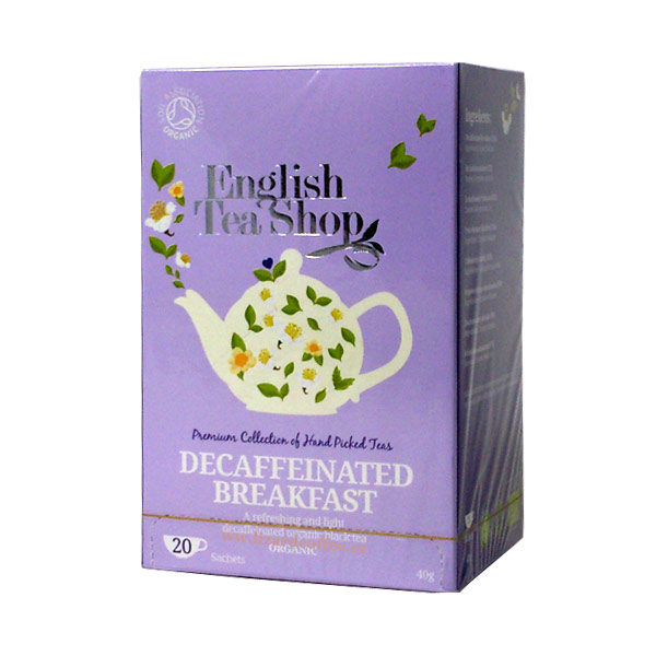 Decaffeinated English Breakfast Must tee kofeeinivaba 20tk
