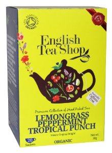 Organic Super Teas Lemongrass Peppermint Tropical Punch 20 sachets