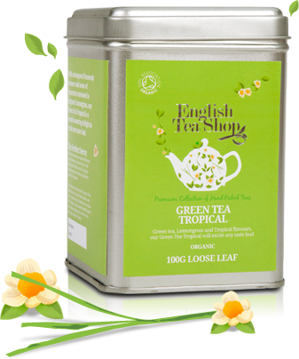 Organic Leaf Green Tea Tropical 100g Tin
