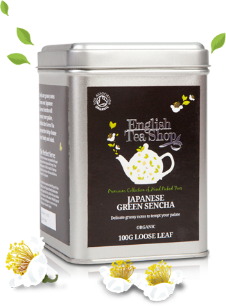 Organic Japanese Green Sencha loose tea 100g tin