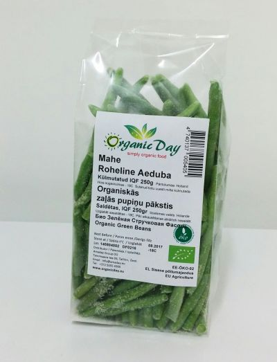 Organic Green Beans whole or (3-4 cut) frozen 250g
