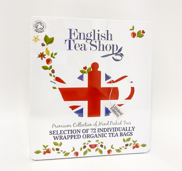 Organic Tea selection Tin 72 Union Jack