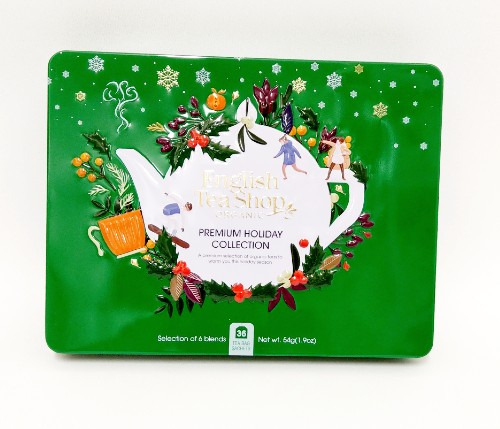 Organic TeaPremium Holiday Collection Green Gift Tin 36