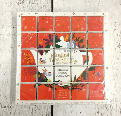 Red Ornaments Organic tea Advent Calendar Puzzle 25