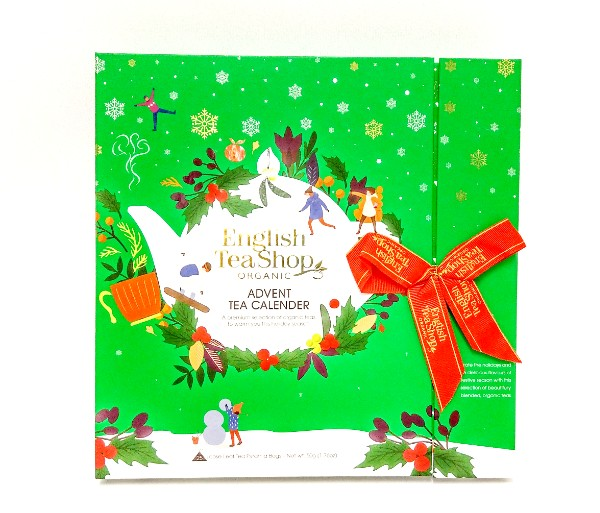 Book Style Christmas Green Advent Calendar 25ct
