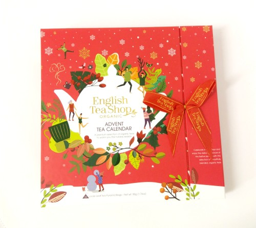 NEW Book Style Christmas Red Advent Calendar 25ct