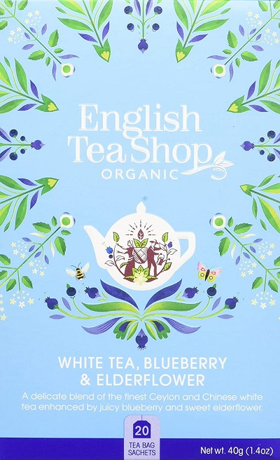 Organic Super Teas White Tea Blueberry and Elderflower 20 sachets