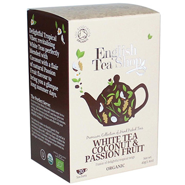 English Tea Shop Organic White Tea Coconut & Passion Fruit (20 Sachets) 40g